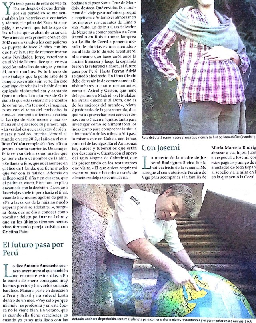 Pablo Portabales y El cocinero del pazo en el Amazonas